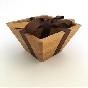 Hallmark | NWT Bamboo Tidbit Bowl with Spreader